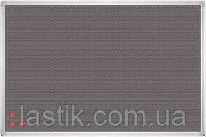 Дошка текстиль сірий + металева сітка, рамка сіра 45х60 см