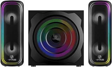 Акустическая система Vertux SonicThunder-80 Вт 2.1 LED Black