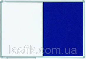 Дошка комбінована маркер / текстиль в ALU23 60х90 см
