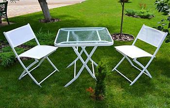 Стіл і 2 стільці в комплекті (стіл d70 * 70см, стілець ш46 * d52 * в80см) MH-2747 (1шт)