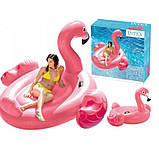 Детский надувной плот ФЛАМИНГО intex 142x137x см для плаванья в бассейне на море для пляжа 57558, фото 3