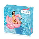 Детский надувной плот ФЛАМИНГО intex 142x137x см для плаванья в бассейне на море для пляжа 57558, фото 2