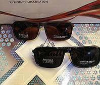 Мужские, солнцезащитные очки с полароидной линзой PorscheDesign, коричневые и чёрные