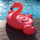 Детский надувной плот ФЛАМИНГО intex 142x137x см для плаванья в бассейне на море для пляжа 57558, фото 9
