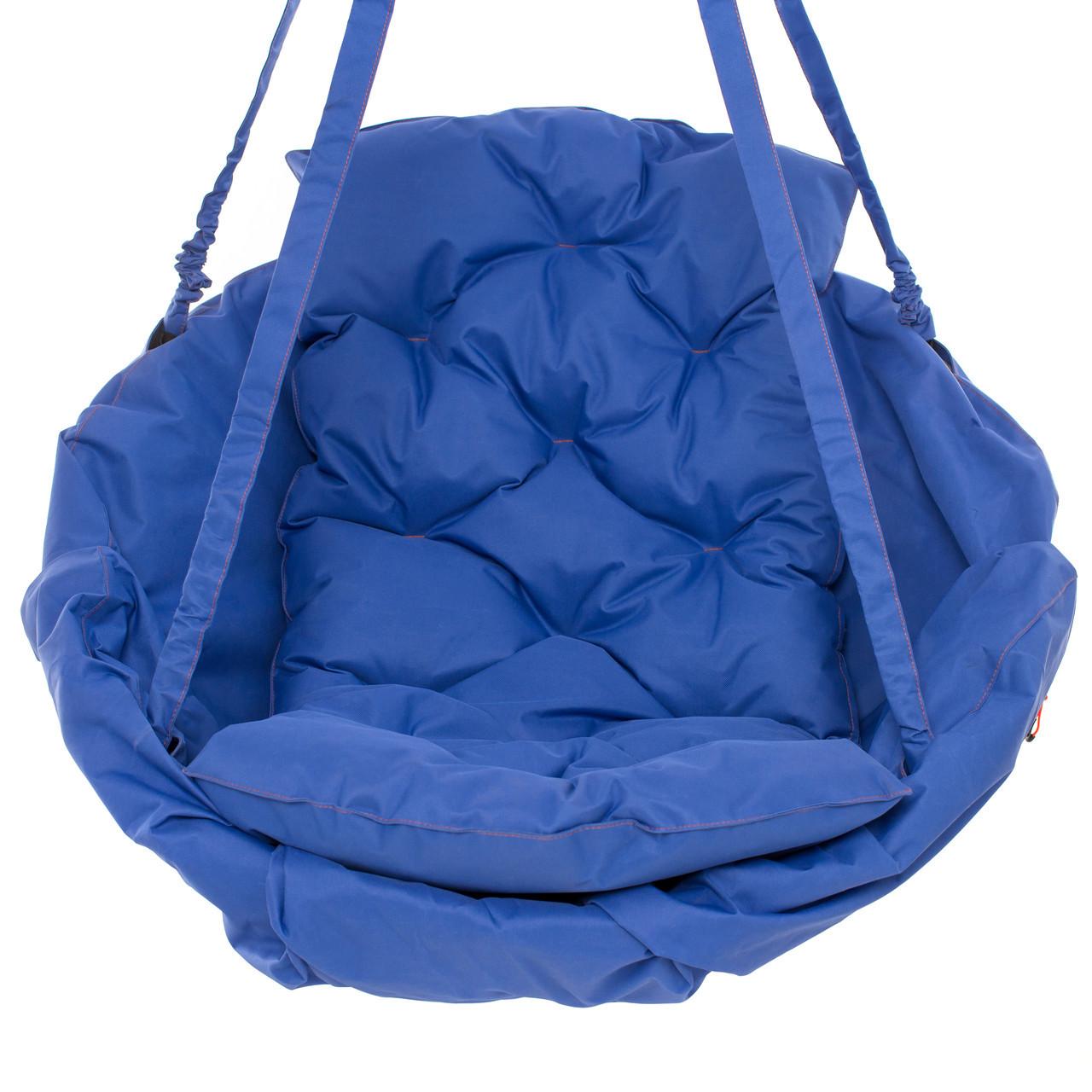 Подвесные садовые качели Kospa без подставки прямоугольная подушка 250 кг - 120 см Синий