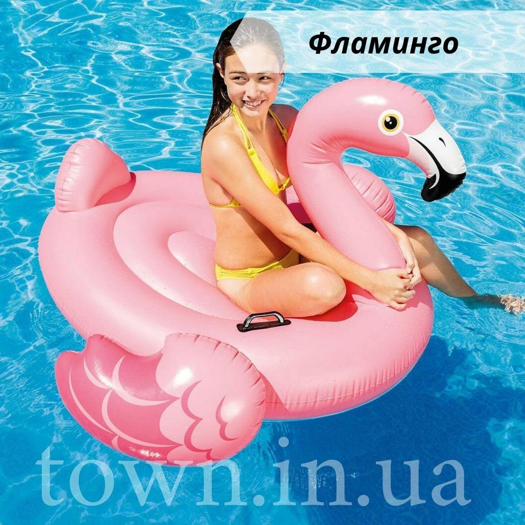 Детский надувной плот ФЛАМИНГО intex 142x137x см для плаванья в бассейне на море для пляжа 57558
