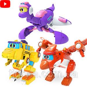 Роботы трансформеры Дино набор
