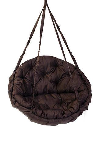 Качели садовые подвесные Kospa без подставки круглая подушка 150 кг - 96 см Коричневый, фото 2