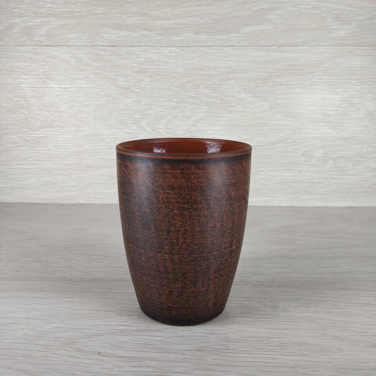 Стакан глиняный  0,35 л  Гладкий в/п глазурь