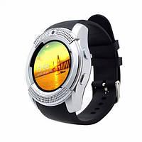 Розумні смарт-годинник Smart Watch V8. Колір: срібло