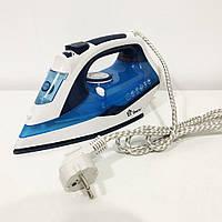 Електричний парова праска з керамічною підошвою Domotec MS 2202 ручної керамічний пароутюг. Колір синій