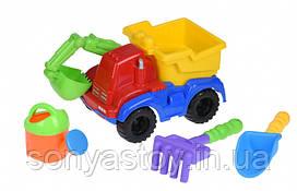 Набор для игры с песком Экскаватор красный (4 шт.) Same Toy