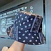 Трендова панама в принт бандани пейслі paisley print бавовняна панамка унісекс чоловіча жіноча, фото 4
