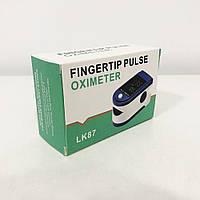 Пульсоксиметр Fingertip pulse oximeter LK87. Колір синій