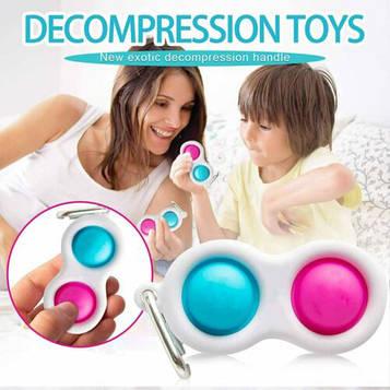 Сенсорна іграшка Simple Dimple (сімпл дімпл) поп іт антистрес сімпл дімпл pop it. Подвійний (SV)