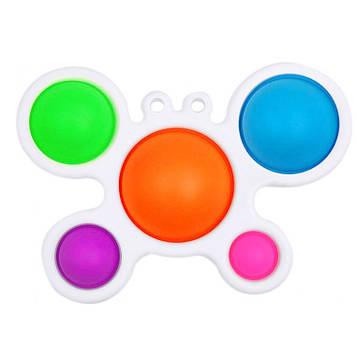 Сенсорна іграшка Simple Dimple (сімпл дімпл) поп іт антистрес сімпл дімпл pop it. Метелик (SV)