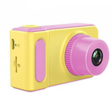 Дитячий цифровий фотоапарат Smart Kids Camera V7 baby T1. Колір: рожевий (SV)
