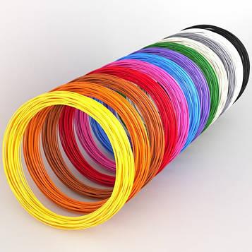 Пластик 3D ручці. Еко 3D-пластик PLA. Набір з 20 кольорів. (200 метрів) (SV)