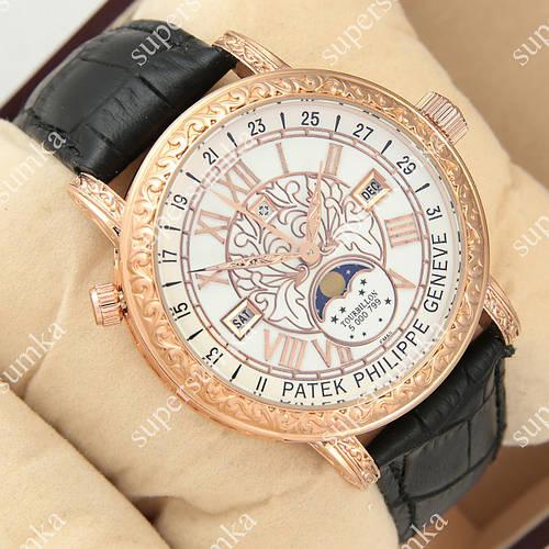 Яркие наручные часы Patek Philippe Geneve Gold/White 1019-0078