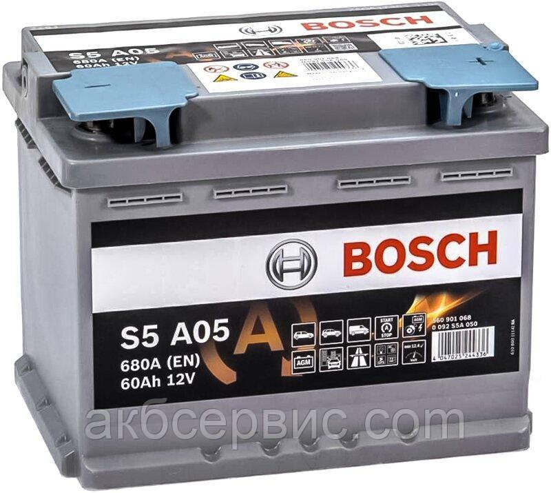 Аккумулятор автомобильный Bosch 6СТ-60 S5A AGM (S5A 050)