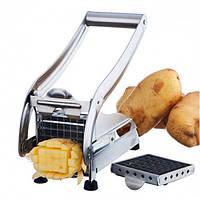 Ручна картоплерізка металева машинка Potato Chipper для нарізки картоплі фрі UN12-15