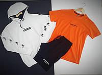 Комплект (худи + футболка+ шорты) мужской. Стильный спортивный костюм мужской кофта футболка шорты