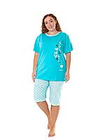 Пижама женская комплект-двойка (бриджи + футболка) ASMA 10101 Батал