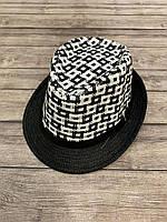 Капелюх доросла чоловіча розмір 50 см, колір чорний з білим