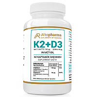 Вітаміни Altopharma K2 + D3 - 60 капс