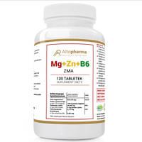 Вітаміни Altopharma магній + цинк + B6 ZMA МЕГА ДОЗА - 120 табл