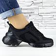 Кросівки жіночі чорні сіточка еко нубук (b-500), фото 3