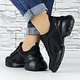 Кросівки жіночі чорні сіточка еко нубук (b-500), фото 5