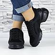 Кросівки жіночі чорні сіточка еко нубук (b-500), фото 4