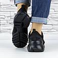 Кросівки жіночі чорні сіточка еко нубук (b-500), фото 6