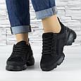 Кросівки жіночі чорні сіточка еко нубук (b-500), фото 2