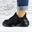 Кросівки жіночі чорні сіточка еко нубук (b-500), фото 7