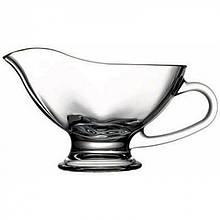 Соусник Pasabahce Basic 300мл 16,2х10,3 см h10,8 см стекло, Емкость прозрачная для соусов с ручкой и ножкой