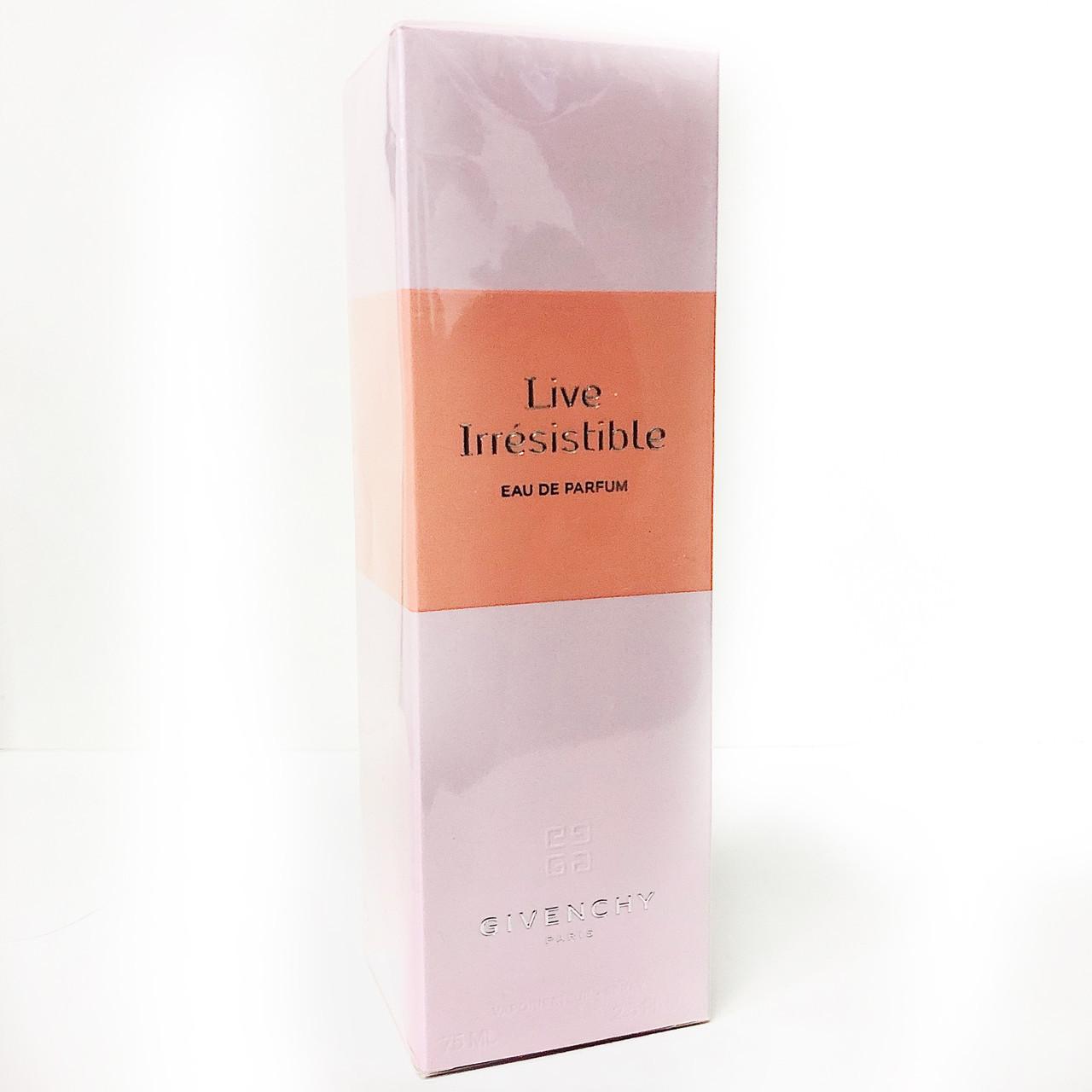 Оригинальный женский аромат GIVENCHY Live Irresistible 75ml  ОРИГИНАЛ парфюмированная вода, цветочно-фруктовый