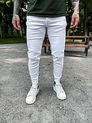 Джинси - Чоловічі білі джинси / чоловічі джинси білі з розрізами на колінах