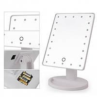 Дзеркало для макіяжу з 16 LED підсвічуванням Mirror White. Колір білий