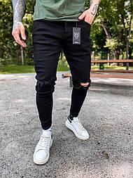 😝 Джинси - завужені Джинси Чоловічі / чоловічі джинси чорні з якісного котону