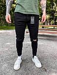 😝 Джинси - завужені Джинси Чоловічі / чоловічі джинси чорні з якісного котону, фото 2