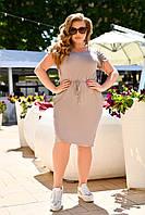 Модное летнее приталенное платье больших размеров