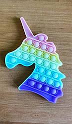 Pop It игрушка антистресс, пупырка, поп ит, сенсорная игрушка, Единорог фосфорный