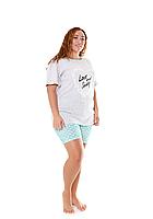 Пижама женская комплект-двойка (шорты + футболка) ASMA 10109 Батал