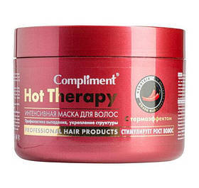 Согревающая Маска для волос с Каенским Перцем, Против выпадения, Активация роста - Hot Therapy Compliment