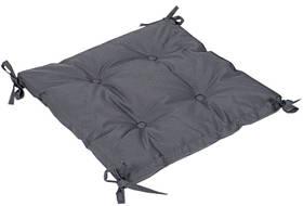Подушка на стул Iris Home 40*40*5 - Optima с завязками антрацитовый