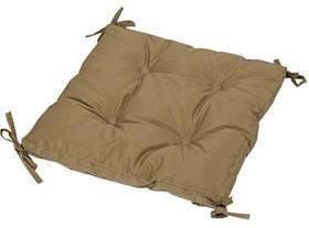 Подушка на стул Iris Home 40*40*5 - Optima с завязками горчичный