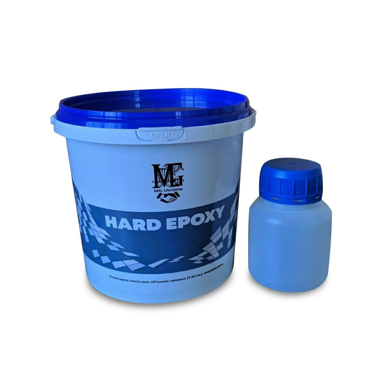 Эпоксидная смола для объемных заливок от 20 мм до 50 мм 1 кг Hard epoxy