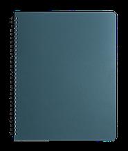 Зошит для нотаток OFFICE, L2U, А4, 96арк., клітинка, синій, пласт. обкладинка